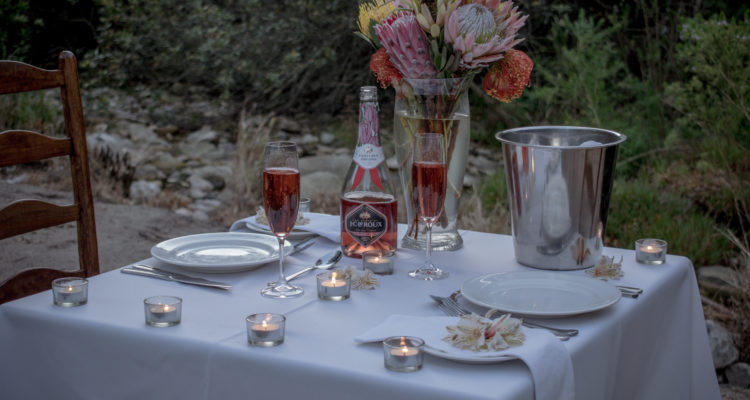 Romantic Private Dining for 2 on river's edge at Gaikou Lodge