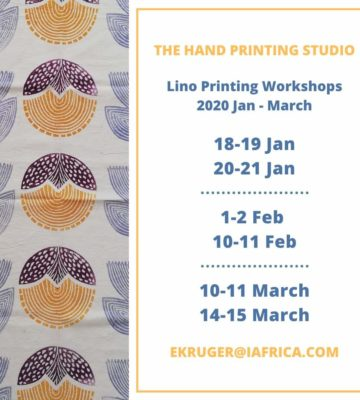 Lino Printing on Fabric Workshops